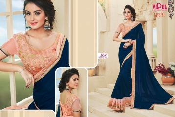 VIPUL FASHION BY FESTIVE BEAUTY CATALOGUE DESIGNER PARTY WEAR SAREES COLLECTION WHOLESALE PRICE 4202