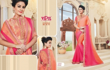 VIPUL FASHION BY FESTIVE BEAUTY CATALOGUE DESIGNER PARTY WEAR SAREES COLLECTION WHOLESALE PRICE 4204