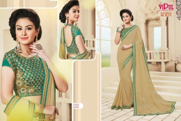 VIPUL FASHION BY FESTIVE BEAUTY CATALOGUE DESIGNER PARTY WEAR SAREES COLLECTION WHOLESALE PRICE 4205
