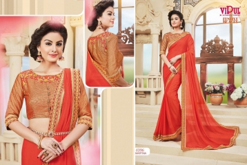 VIPUL FASHION BY FESTIVE BEAUTY CATALOGUE DESIGNER PARTY WEAR SAREES COLLECTION WHOLESALE PRICE 4206