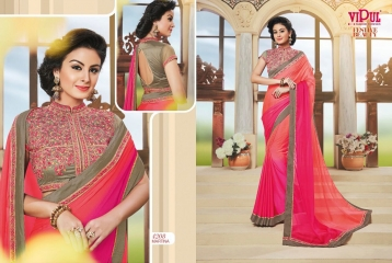 VIPUL FASHION BY FESTIVE BEAUTY CATALOGUE DESIGNER PARTY WEAR SAREES COLLECTION WHOLESALE PRICE 4208
