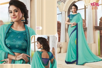 VIPUL FASHION BY FESTIVE BEAUTY CATALOGUE DESIGNER PARTY WEAR SAREES COLLECTION WHOLESALE PRICE 4213