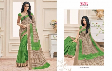 VIPUL FASHION ROSE QUEEN SILK DESIGNER PRINT SAREES WHOLESALE 34412