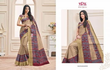 VIPUL FASHION ROSE QUEEN SILK DESIGNER PRINT SAREES WHOLESALE 34418