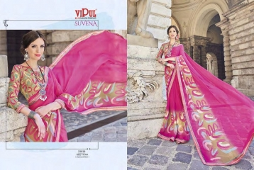 VIPUL FASHION SUVENA TRENDY GEORGETTE SAREES COLLECTION WHOLESALE PRICE 33938