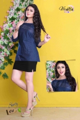 VIRATRA SHORLTY VOL 1 DENIM STYLIST KURTI COLLECTION WHOLESALE PRICE SURAT 01
