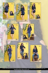 VIRATRA SHORLTY VOL 1 DENIM STYLIST KURTI COLLECTION WHOLESALE PRICE SURAT T