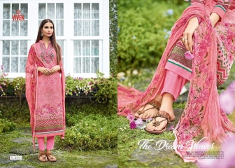 VIVEK SUITS FLOWER GIRL VOL 2 COTTON SUITS WHOLESALE SURAT 4001
