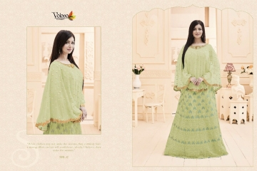 VOLONO TRENDZ PARI VOL 12 GEORGETTE EMBROIDERED SUITS WHOLESALER 219 C