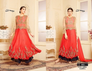 YOUR CHOICE BY EVER SHINE KARWA DESIGNER GEORGETTE PARTY WEAR SALWAR KAMEEZ WHOLESALE 02