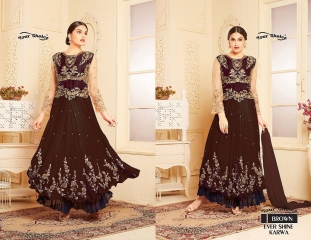 YOUR CHOICE BY EVER SHINE KARWA DESIGNER GEORGETTE PARTY WEAR SALWAR KAMEEZ WHOLESALE 03