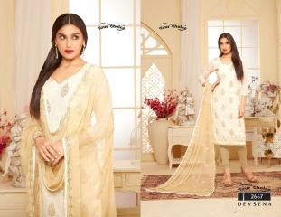YOUR CHOICE DEVSENA COTTON STRAIGHT SALWAR KAMEEZ WHOLESALE 2667
