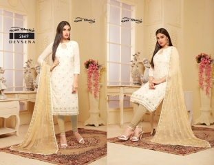YOUR CHOICE DEVSENA COTTON STRAIGHT SALWAR KAMEEZ WHOLESALE 2669