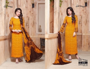 YOUR CHOICE DINAAR VOL 18 CATALOGUE PURE CHIFFON EMBROIDERED SALWAR KAMEEZ DEALER SURAT 2715