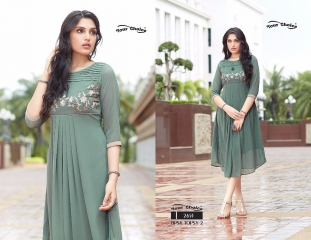 YOUR CHOICE TIPSY TOPSY VOL 2 GEORGETTE KURTI EXPORTER SURAT 2651