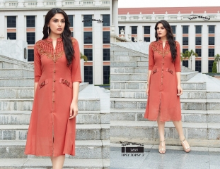 YOUR CHOICE TIPSY TOPSY VOL 2 GEORGETTE KURTI EXPORTER SURAT 2653