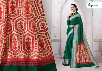ZARI BY LT FABRICS MANIPURI SILK EMBROIDERY FANCY SAREES CATALOGUE WHOLESALE DEALER 34002