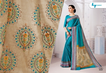 ZARI BY LT FABRICS MANIPURI SILK EMBROIDERY FANCY SAREES CATALOGUE WHOLESALE DEALER 34007