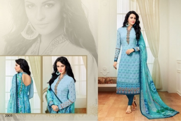 ZISA HARMONY COLLECTION GEORGETTE STRAIGHT SUITS WHOLESALE SURAT 2005