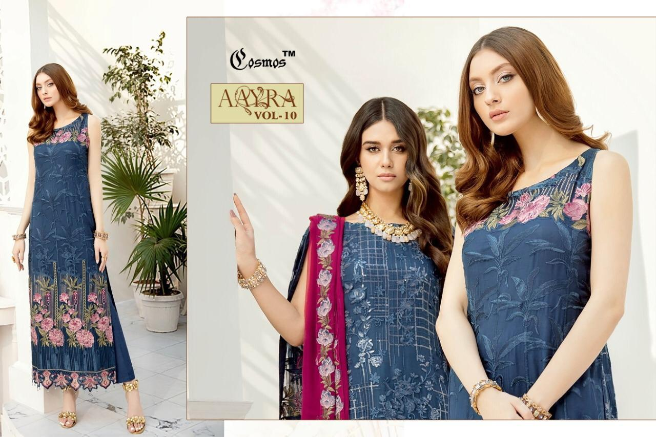 Aarya Vol 10 Cosmos Fashion Fox Georgette Pakistani Suits Wholesale Collection At Surat Wholesaler Exporter Of All Brands Pratham Exports